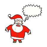 tecknad film chockade Santa Claus med anförandebubblan Royaltyfria Foton
