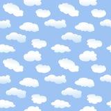 tecknad film clouds seamless Fotografering för Bildbyråer