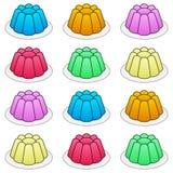 Tecknad film färgrika Jelly Seamless Pattern Arkivfoto