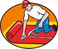 Tecknad film för arbetare för mattlagerFitter Royaltyfri Foto