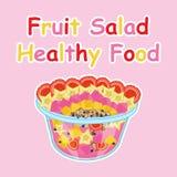 Tecknad film för fruktsallad Royaltyfri Fotografi