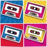 Tecknad film för kassett för popkonst royaltyfri illustrationer