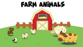 Tecknad film för lantgårddjur Arkivfoton