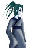 Tecknad film för manga för anime för man för samurajkrigaremän Royaltyfri Foto