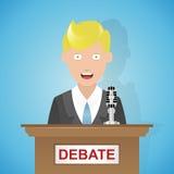 Tecknad film för politisk debatt Royaltyfri Illustrationer