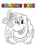 Tecknad film för sköldpadda för färgläggningbok arkivfoton
