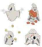 Tecknad film för spökegemkonst Arkivbild