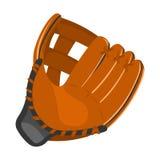 Tecknad film för symbol för baseballhandske Enkel sportsymbol från den stora konditionen som är sund, genomkörareuppsättning Royaltyfria Bilder