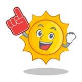 Tecknad film för tecken för sol för skumfinger gullig Royaltyfri Foto