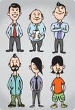 tecknad film figures missfosterkontorsfolk stock illustrationer
