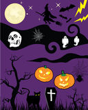 tecknad film halloween vektor illustrationer