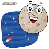 Tecknad film Mercury Planet Character Royaltyfri Bild