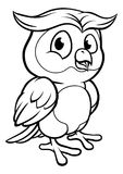 Tecknad film Owl Character stock illustrationer