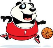 Tecknad film Panda Basketball Royaltyfri Fotografi