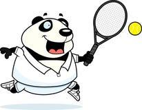 Tecknad film Panda Tennis Royaltyfri Fotografi
