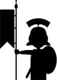 Tecknad film Roman Soldier Silhouette Arkivfoto