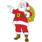 Tecknad film Santa Claus för lyckligt nytt år Fotografering för Bildbyråer