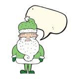 tecknad film Santa Claus med anförandebubblan Royaltyfria Foton