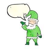tecknad film Santa Claus med anförandebubblan Royaltyfri Foto