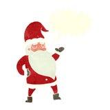 tecknad film Santa Claus med anförandebubblan Arkivbilder