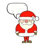 tecknad film Santa Claus med anförandebubblan Fotografering för Bildbyråer