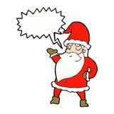 tecknad film Santa Claus med anförandebubblan Arkivfoton