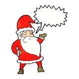 tecknad film Santa Claus med anförandebubblan Royaltyfri Fotografi