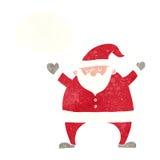 tecknad film Santa Claus med tankebubblan Arkivbilder