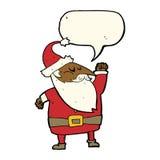 tecknad film Santa Claus som stansar luft med anförandebubblan Royaltyfri Bild
