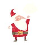 tecknad film Santa Claus som stansar luft med tankebubblan Royaltyfri Foto