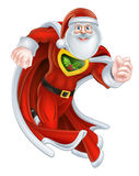 Tecknad film Santa Claus Superhero Royaltyfri Foto