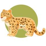 Tecknad film som ler Jaguar Arkivfoto