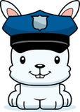 Tecknad film som ler polisen Bunny Royaltyfri Bild