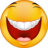 Tecknad film som skrattar smiley Arkivbild