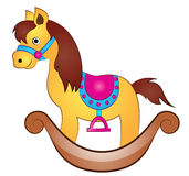 Tecknad film Toy Horse Royaltyfri Foto