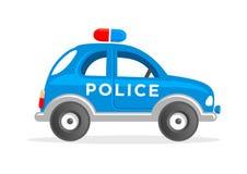 Tecknad film Toy Police Car Vector Illustration Arkivfoto