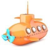 Tecknad film-utformad ubåt Royaltyfri Bild