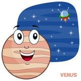 Tecknad film Venus Planet Character Arkivbilder