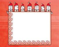 Tecknad filmaffärslag och julmellanrumsbräde royaltyfri illustrationer