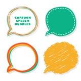 Tecknad filmanförandebubblor. Vektorillustration. Royaltyfri Foto