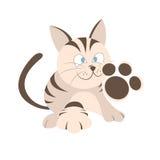 Tecknad filmappliqueuppsättning, kräm- katt Royaltyfri Bild