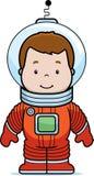Tecknad filmastronaut Boy Arkivfoton