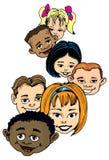 tecknad filmbarngrupp Arkivfoto