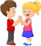 Tecknad filmbarnhand som applåderar lekar vektor illustrationer