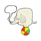tecknad filmcirkuselefant med anförandebubblan Arkivbilder
