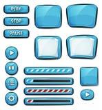 Tecknad filmdiamantbeståndsdelar för den Ui leken Arkivbild
