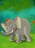 Tecknad filmdjungel - safari - illustration för barnen Royaltyfria Bilder