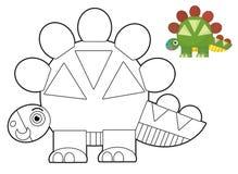Tecknad filmdjur - färgläggningsida - illustration för barnen vektor illustrationer