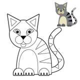 Tecknad filmdjur - färgläggningsida - illustration för barnen stock illustrationer