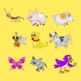 Tecknad filmdjur royaltyfri illustrationer